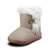 保暖宝宝棉靴儿童短靴加绒加厚亏本女童雪地靴男童棉鞋秋冬季