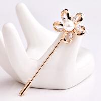 仿珍珠别针胸花朵女领针领扣胸针西装情人节礼物