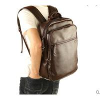 简约休闲大方百搭大容量学生书包旅行包电脑包双肩包男士背包