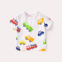 婴儿短袖T恤夏装2018新款宝宝夏季衣服3岁新生儿半袖圆领纯棉体恤