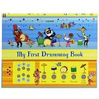 【首页抢券300-100】Usborne My first Drumming Book 宝宝音乐启蒙 音乐发声书英语打鼓