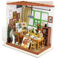 若态diy小屋创意 纯手工艾达画室 微景观模型 儿童益智玩具