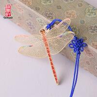碳墨轩 彩晶系列 彩色蜻蜓 创意书签 当当自营