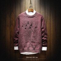 冬季毛衣男士韩版潮流个性圆领针织衫修身线衣长袖宽松打底衫