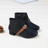 女童短靴秋冬高跟公主皮靴2017新款韩版儿童短靴马丁靴女童靴子潮