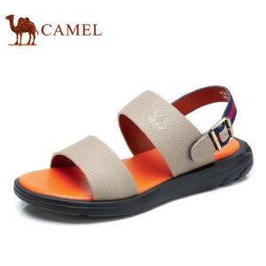 camel 骆驼男凉鞋 夏季新款休闲百搭时尚凉鞋男真皮露趾沙滩鞋