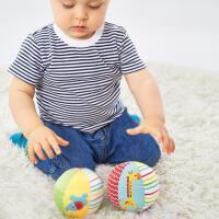 费雪(Fisher Price)玩具 儿童玩具球 动物认知球宝宝摇铃球 F0806