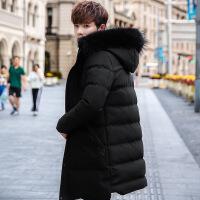 男士棉衣冬季外套中长款2018新款韩版加厚羽绒潮流棉袄子男装