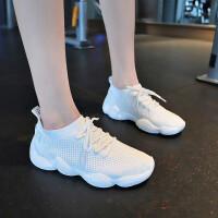 运动鞋女韩版网面透气休闲鞋女夏季百搭女鞋子跑步袜子丑鞋