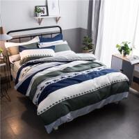 御目 四件套 亲肤棉芦荟棉4件套床单被罩被套枕套三件套1.2m1.5m1.8m2.0m套件家居床上用品