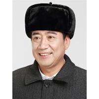 冬季老人帽子男士冬天保暖老头帽中老年人护耳爸爸爷爷雷锋帽