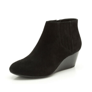 Clarks/其乐女鞋2017秋冬新款坡跟系带休闲短靴Luca Burmese柜正品直邮