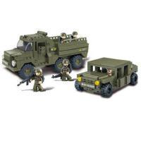 小鲁班积木部队 益智创意军事陆军游骑兵模型5岁拼装玩具益智