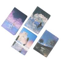 星镜创意彩色笔记本 手绘插画空白硬皮记事本 清新简约日记手账本