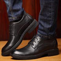 爸爸鞋男真皮头层牛皮欧洲站男士时尚正装鞋牛皮隐形内增高大码单鞋商务皮鞋小码