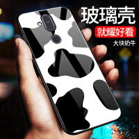 诺基亚x71手机壳玻璃镜面nokia7plus保护套TA-1172全包边防摔2018版x7硅胶软边1 诺基亚x7 20
