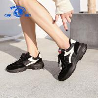 环球2019冬季新款百搭低帮学生运动鞋韩版原宿加绒保暖休闲跑步鞋