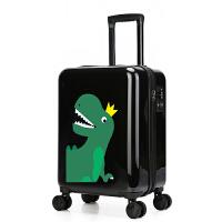 卡通儿童拉杆箱男16寸20寸学生万向轮小行李箱小恐龙旅行箱男孩童 皇冠