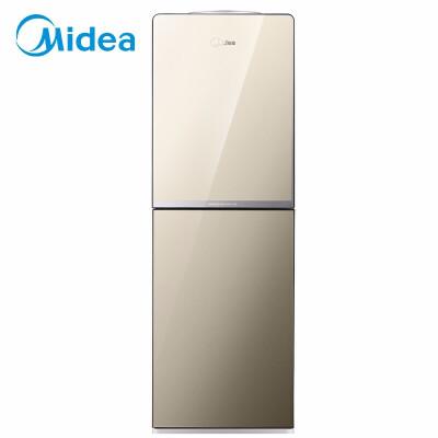 美的(Midea)饮水机立式家用办公双开门柜式饮水器金色 温热款 YR1518S-X 旋钮出水 钢化玻璃双开门 一体集成水路板