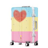 2018新款个性涂鸦爱心气球拉杆箱20寸登机行李箱万向轮学生旅行箱