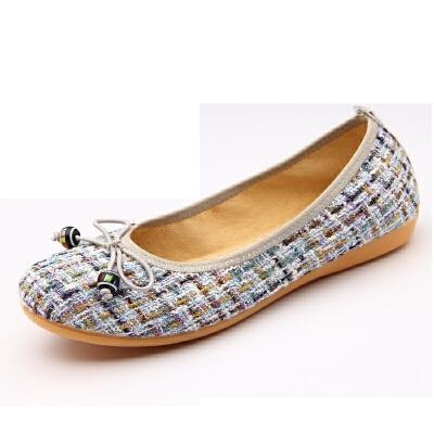 春夏软底女单鞋老北京布鞋女鞋浅口圆头平底孕妇鞋开车工作鞋