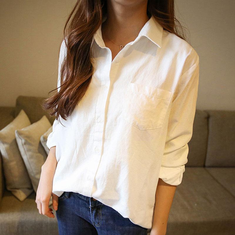 白色衬衫女长袖2018春装新款棉宽松衬衣chic早秋上衣秋装韩范加绒   本产品为促销产品,限购一件,未经过客服同意,私自大量下单的一律不发货,并且不作为