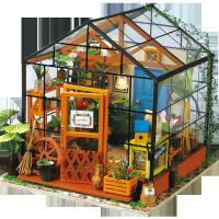 儿童益智玩具 若态 diy小屋批发 立体手工拼装凯西花屋 微景观模型现