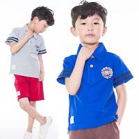 童装男童t恤短袖2017新款夏装韩版儿童纯棉polo衫中大童半袖上衣