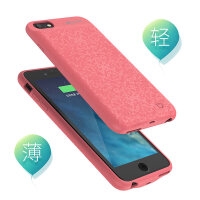 苹果iPhone6s/7P背夹充电宝6plus背夹电池手机壳6p冲便携 6/6s 4.7粉色