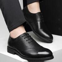 商务休闲鞋男韩版潮流百搭夏季发型师英伦潮男士正装皮鞋