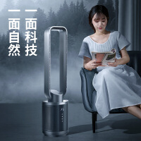 韩国大宇无叶风扇超静音家用立式落地摇头电风扇空气循环净化塔扇 白色