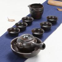 林仕屋 柴烧茶壶粗陶整套功夫茶具套装干泡盖碗茶盘茶具 茶杯子CS01