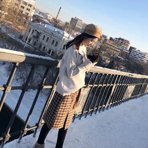 谜秀毛衣女套头2017秋冬装新款韩版宽松可爱针织衫打底衫加厚冬潮