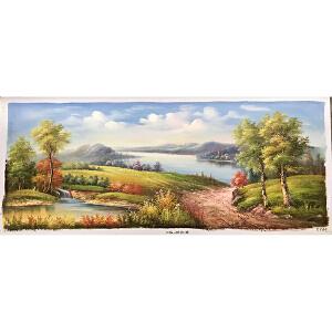 风景油画作品 70X180-160