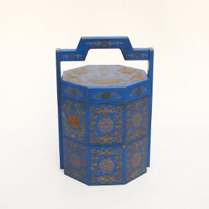 精美漆器食盒摆件