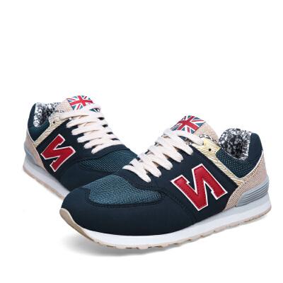 新百伦阿迪 2017春季新款真皮N字女鞋韩版潮流休闲运动平底单鞋全场包邮,送正品透气袜,支持七天退换。