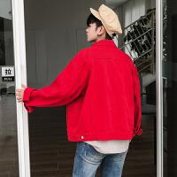 秋冬秋季欧美简约外套纯色长袖男士外穿男装上衣夹克衫大码夹克
