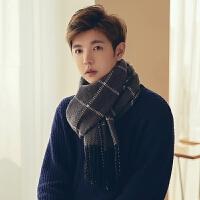 冬季新款男士围巾学生针织毛线围巾男生韩版百搭简约年轻人潮
