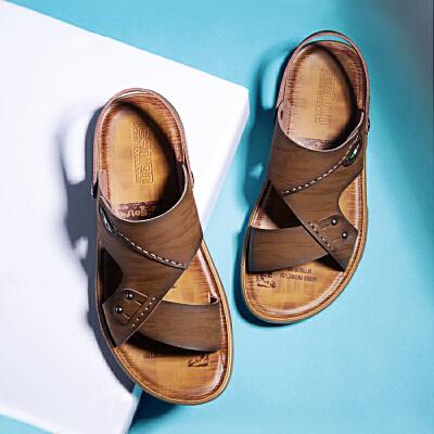 宜驰 EGCHI 凉鞋男士沙滩鞋透气夏季套脚凉拖15951