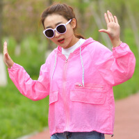 防晒衣 女士中长款时尚风衣薄款透气防紫外线衣2019夏季新款户外宽松女装外套