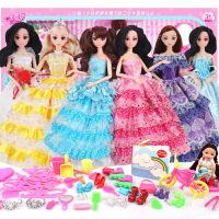 米雪琪芭芘娃娃套装大礼盒玩具梦幻衣橱婚纱衣服儿童女孩玩具