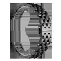 新款五珠钢带 华为手表watch2pro表带 智能手表替换腕带金属不锈钢商务轻 +钢化膜2片