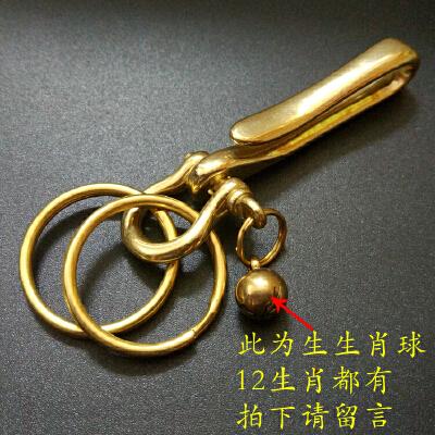 复古手工黄铜钥匙扣 创意简约铜钥匙扣挂件 汽车钥匙扣男腰挂 发货周期:一般在付款后2-90天左右发货,具体发货时间请以与客服协商的时间为准