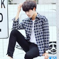 秋冬长袖韩版男士衬衣常规青春流行长袖衬衫个性工作服衬衫