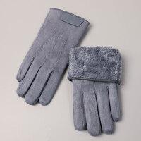 男士手套冬季保暖防风触摸屏加绒分指
