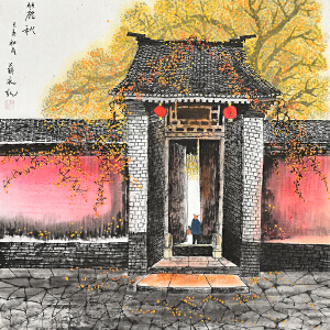 当代著名画家  薛永麓秋gs01447