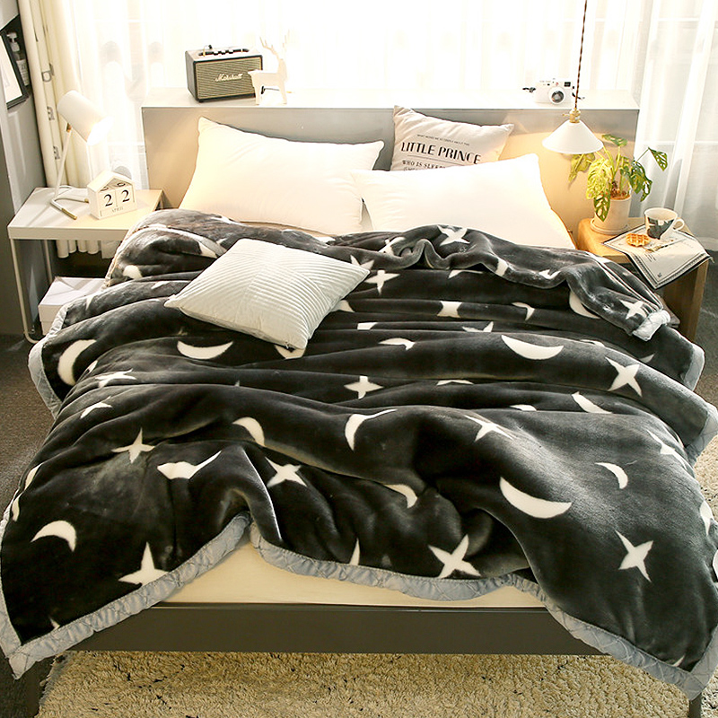 珊瑚绒毯子冬季加厚绒毛毯被子夏天薄款床单人毛巾被办公室午睡毯  双层加绒加厚200*230cm 约9斤