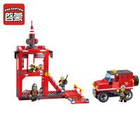 启蒙积木小颗粒拼装模型6-10岁儿童玩具系列三桥904
