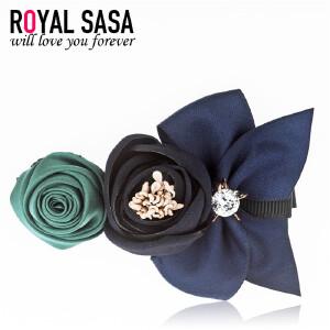 皇家莎莎RoyalSaSa头饰新款手工布艺花朵蝴蝶结发夹鸭嘴夹边夹刘海夹发卡子