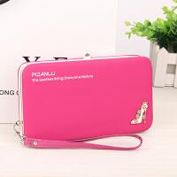 Yinbeler零钱包女式钱包皮夹iphone6sp5.5寸手机包大容量按扣小手包高跟鞋款